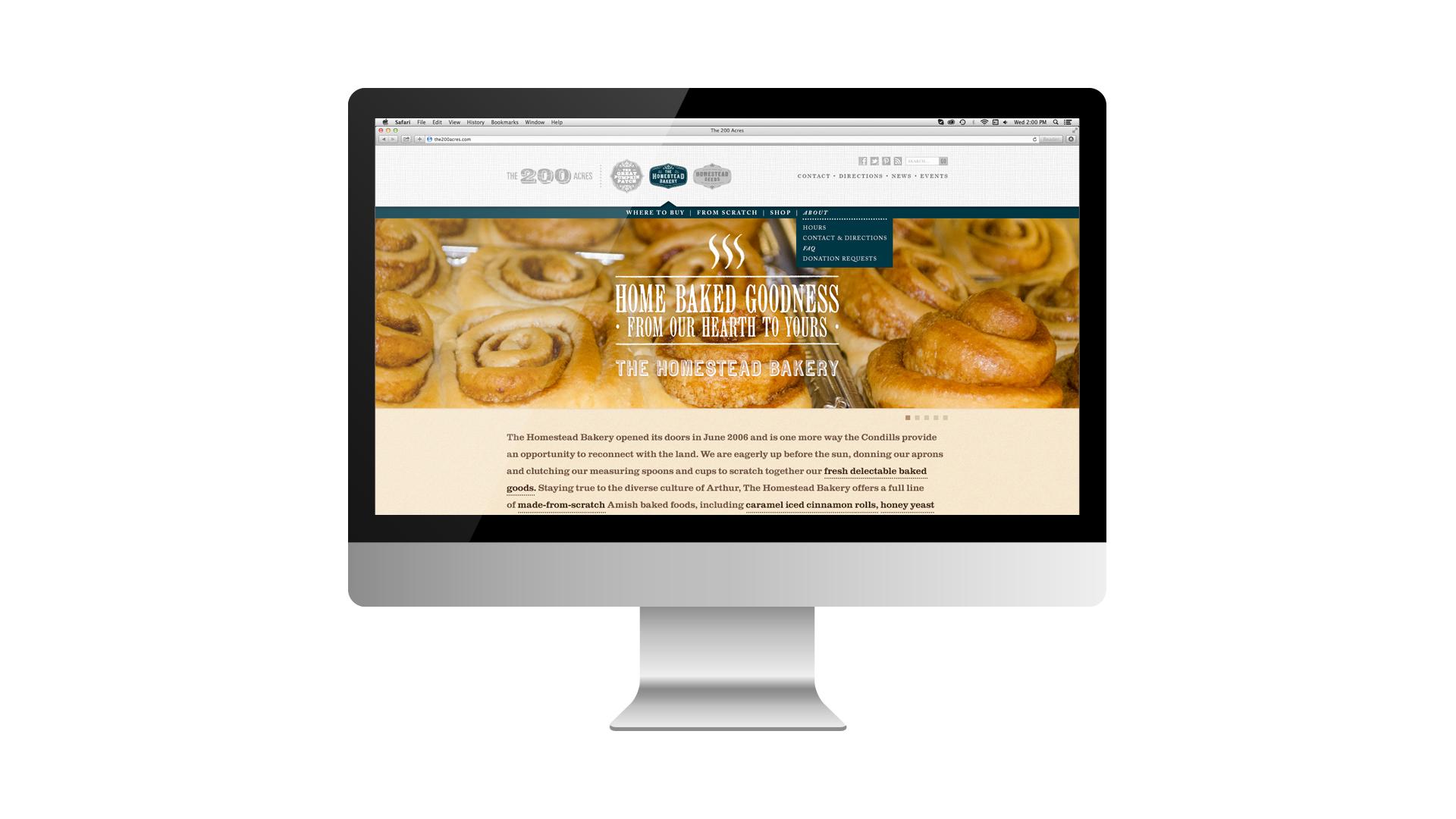The Homestead Bakery - Arthur, Illinois - Website