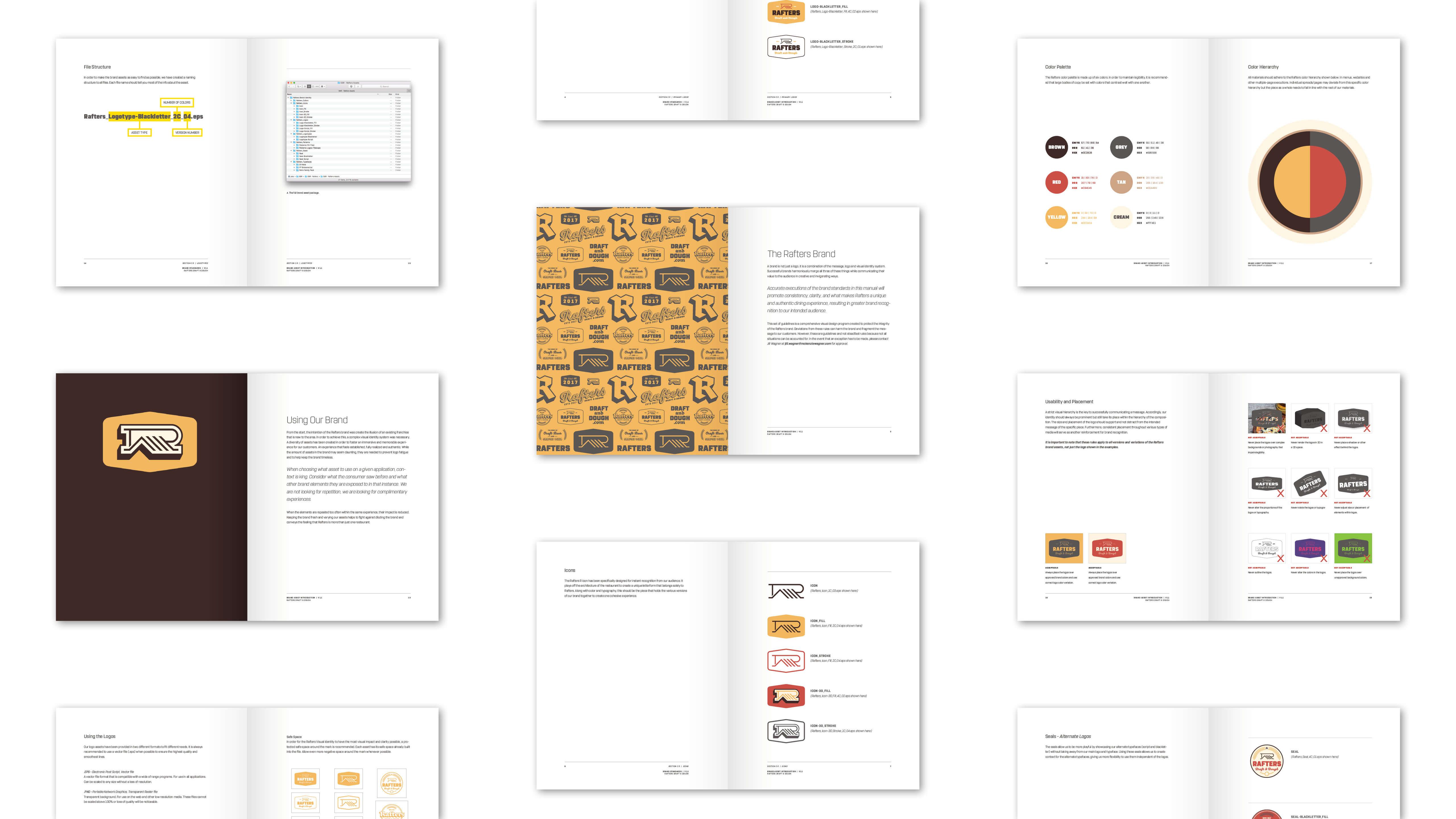 Rafters Draft & Dough - Branding