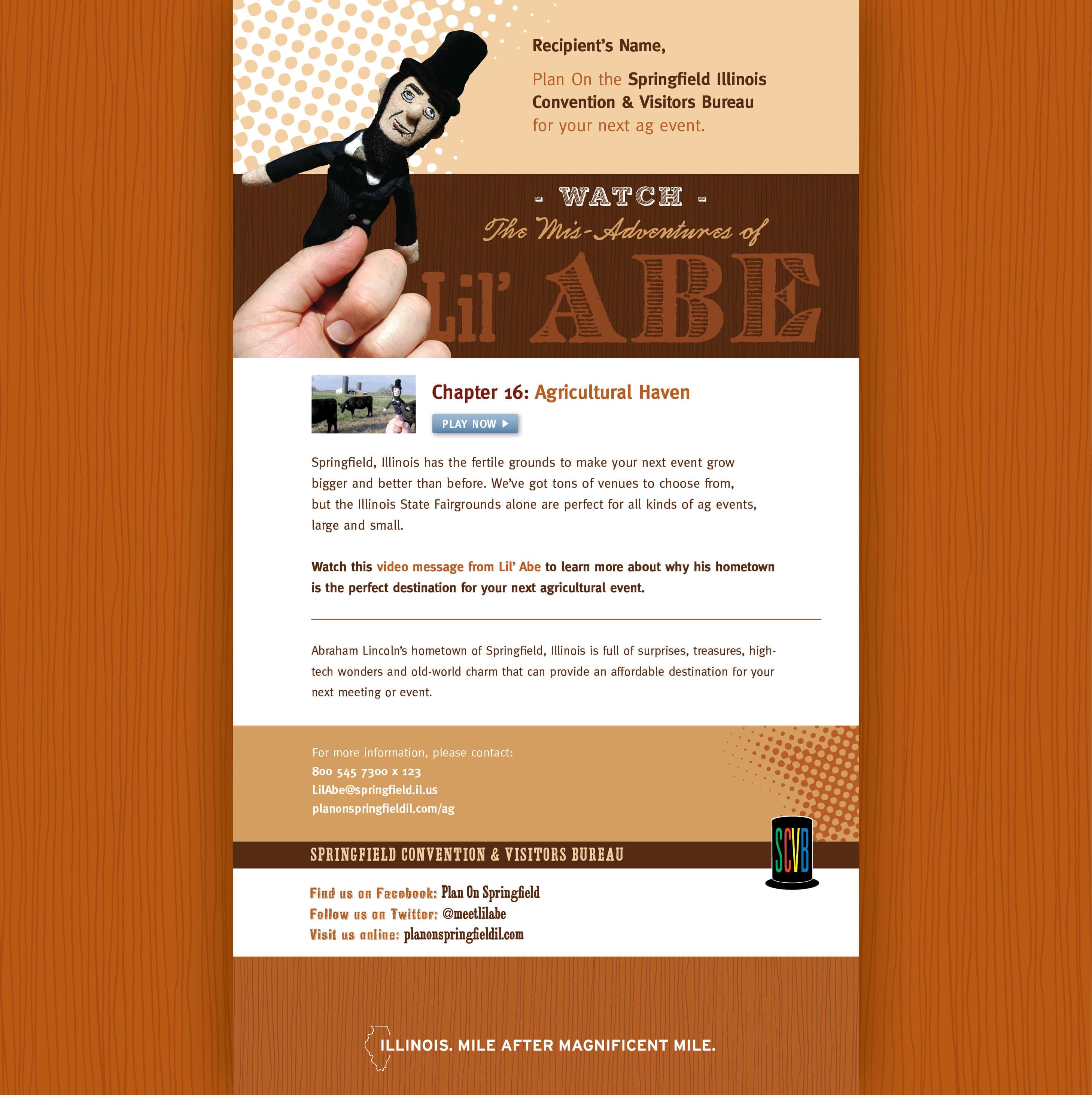 Springfield Convention & Visitors Bureau | Lil' Abe Marketing Campaign