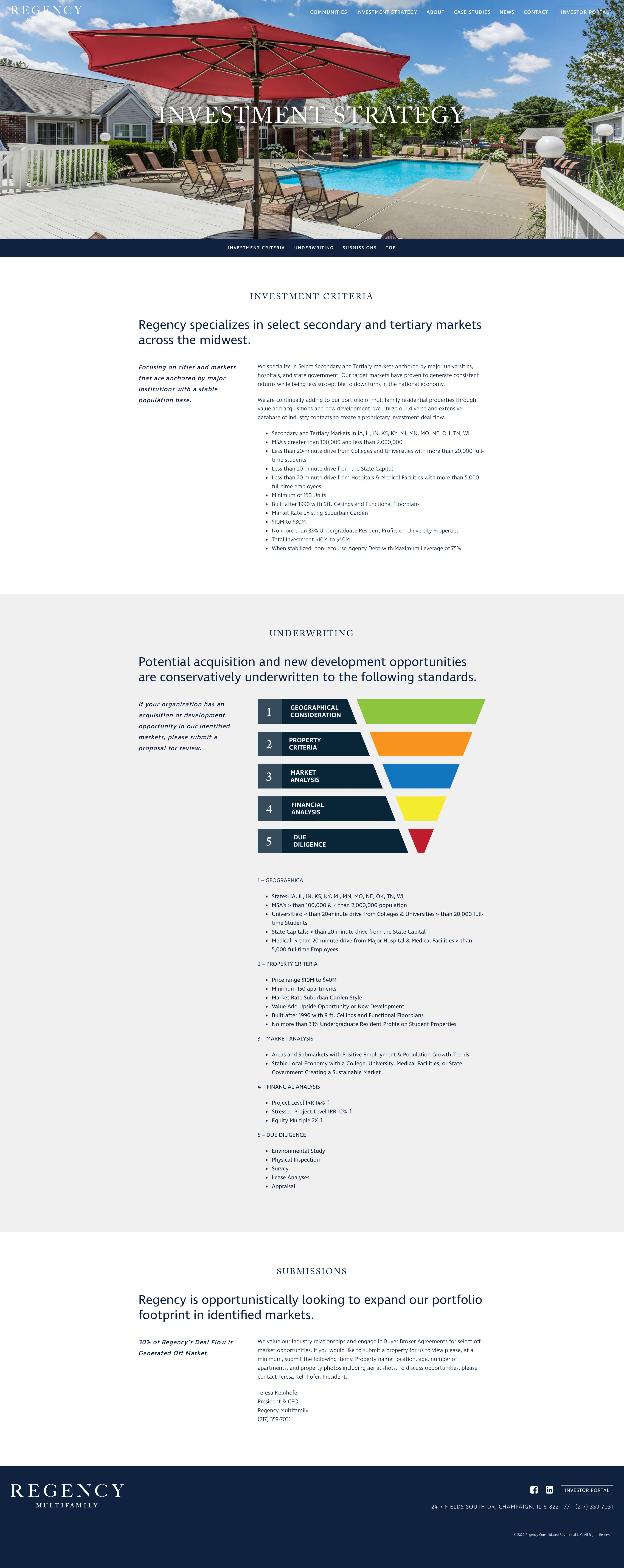 Regency Multifamily - Corporate Website