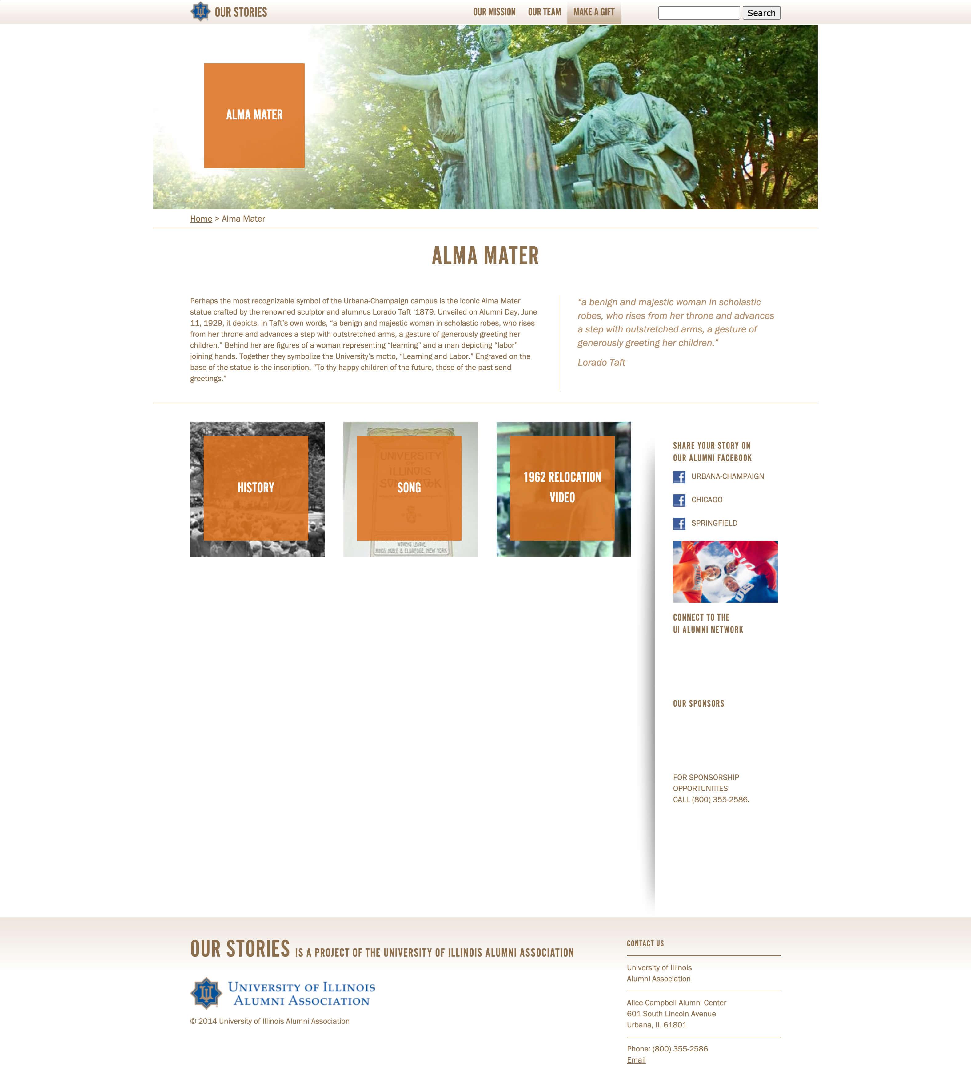 University of Illinois Alumni Association - Our Stories Website