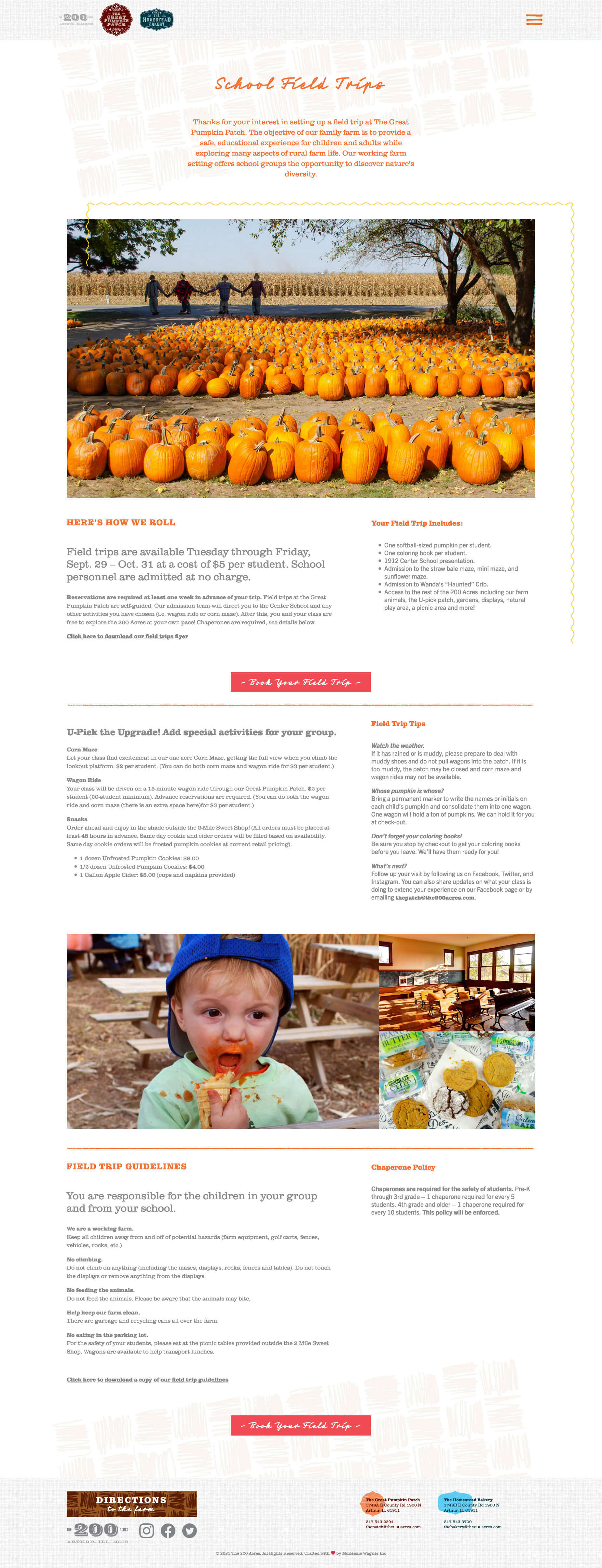 The 200 Acres - The Great Pumpkin Patch - The Homestead Bakery Website